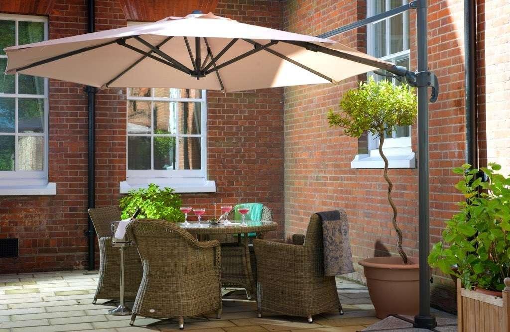 Terrace showing umbrellas